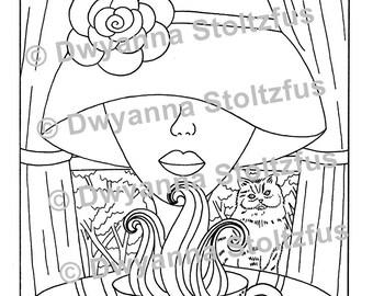 Fragrant Tea Coloring Page PDF