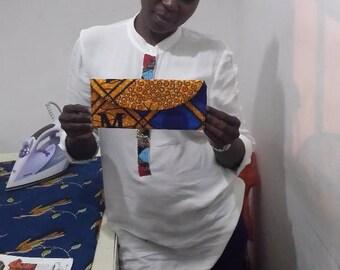 Ghana print Clutch