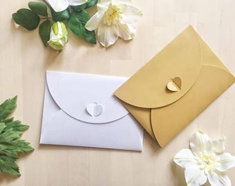 Heart lock envelope, wedding invitation envelope, save the date, bridal shower envelope