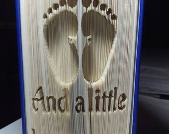Ten tiny toes and a little button nose Cut & Fold Book Folding Pattern (Digital Download PATTERN ONLY) Baby feet
