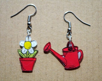 the watering can and flower in the summer...