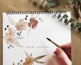 2018 Wall Calendar / Art Calendar / 12x12 Hanging Wall Calendar