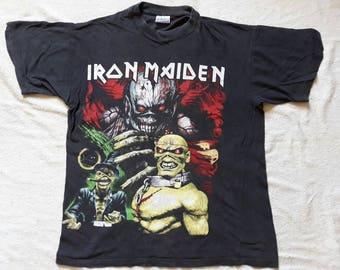 Vintage 1990's Iron Maiden Tour Concert T Shirt.