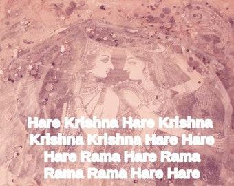 Hare Krishna poster Mahamantra Vedic philosophy mantra Krsna
