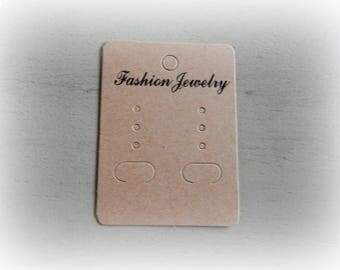 10 blank cardboard pr earrings 50 * 65mm