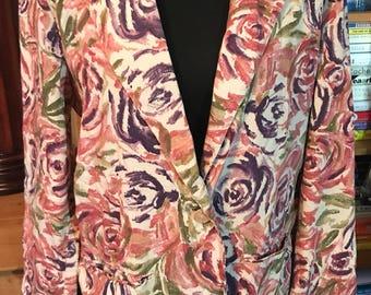80s Toni Garment for CC Magic Unlined Rayon Jacket