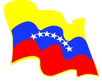 Venezuela waving flag Car sticker
