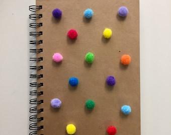 Pom Pom A5 Notebook