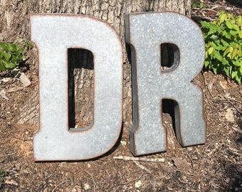 CLEARANCE/Extra Large Metal Letter/Wall Decor/Galvanized Metal Letters/Love/Wall Letters/Wedding Decor/Rustic Wedding/Wall Decor/Initial/20""