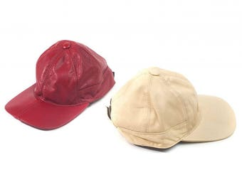 Juliette Lambskin Leather Baseball Cap