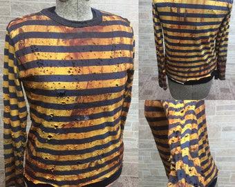 Kids vintage striped zombie shirt