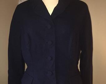 1950's Navy Suit Blazer Jacket