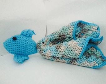 Crochet Fish Security Blanket