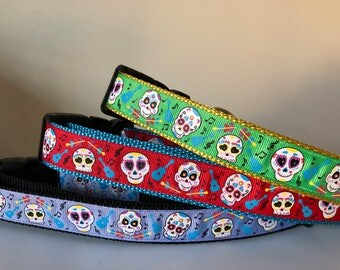 Day of the Dead Inspired 1 inch Collar