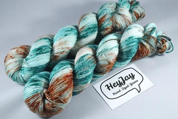 Hand Dyed Sock Yarn Superwash Merino/Nylon - Submarine