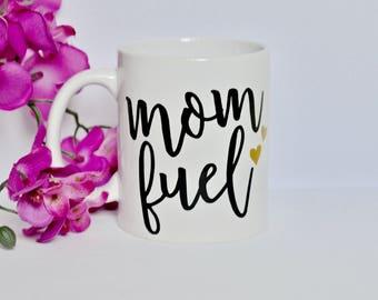 8oz Mom Fuel coffee mug