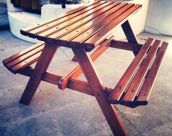 Garden kids picnic table solid wood painted