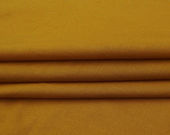 """Ocher Yellow Fabric, Pillow Dress Making Fabric, Apparel Sewing Supplies, Craft Fabric, 41"""" Inch Cotton Fabric By The Yard PZBC9G"""