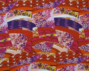 "Multicolor Cotton Fabric, Floral Print, Decorative Fabric, Dressmaking Fabric, 44"" Inch Quilting Fabric By The Yard ZBC8993A"