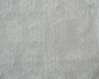 "Home Decor Fabric, Sewing Crafts, White Fabric, Dress Material, Indian Fabric, 41"" Inch Net Fabric By The Yard ZBD202A"