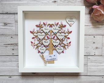 Family Tree Frame - Personalised Family Tree - Our Family - Wooden Family Tree - Personalised Gift - Anniversary Gift - Keepsake