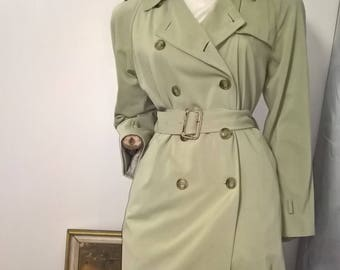 Time Vintage 90s double breasted trench coat with belt size 10/S