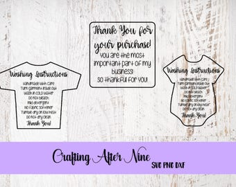 Care Card Svg, Drinkware Bundle, Apply Vinyl Decal, Print and Cut File, Silhouette, Cricut, HTV Wash Instructions, SVG Design, File ONLY