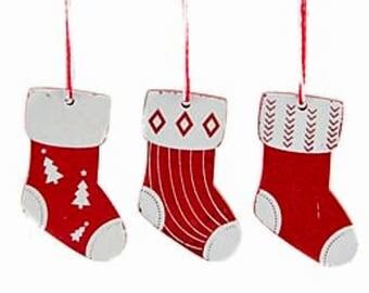 Christmas stocking, ornaments, christmas decorations, decorations, wood,tree decorations