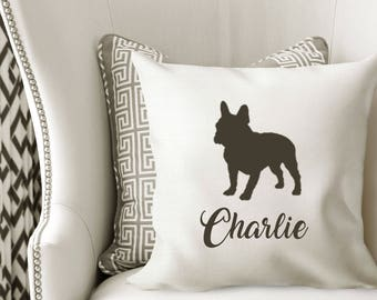 Personalized French Bulldog Pillow Cover