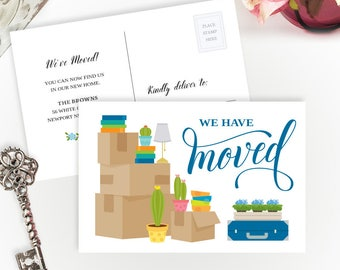 Moving announcements PRINTED  | Personalized change of address cards | We have moved cards