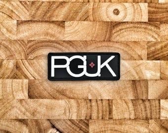 PGUK PVC Patch - EDC Patch - Morale Patch - 75mm x 28.4mm