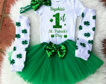 1st St Patricks Day, Baby St Patricks Day Outfit, First St Patricks Day Outfit Girl, St Patricks Day Baby, First St. Patrick's Day Infant