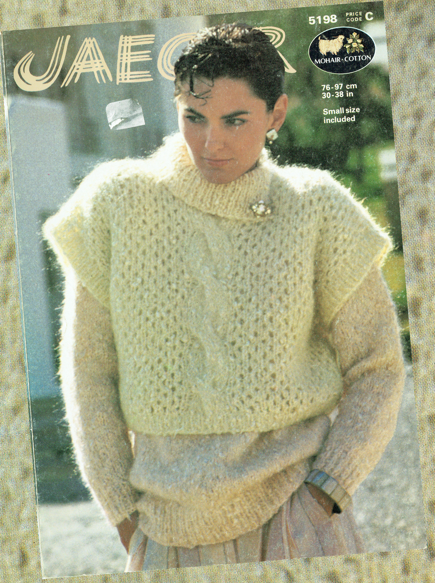 Original vintage 1980s womens ladies knitting pattern mohair lacy sold by theatticofkitsch bankloansurffo Images