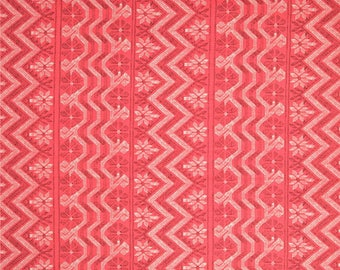 Amy Butler Bright Heart Cosmo Weave Fabric,Amy Butler coral Fabric by the Yard,coral fabric, designer Coral Fabric,Cotton fabric by the yard