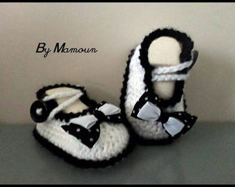 Baby (0-3 months) in the form of Ballet flats: the black and white