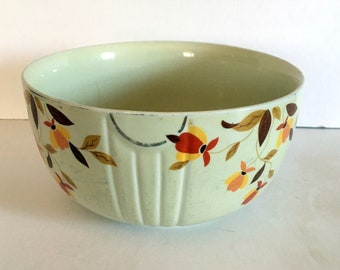 Vintage Hall's Superior Kitchenware Jewel Tea Autumn Leaf Bowl