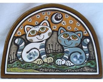 Ceramic Wall Picture (Cat Date)
