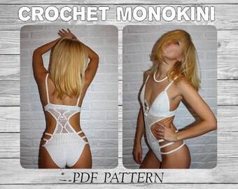 "Crochet Monokini Pattern ""Pina Colada""/ Crochet Bikini Pattern/ Crochet Bikini/ Crochet Swimwear/Crochet one-piece/ One-piece swimsuit/ Pdf"