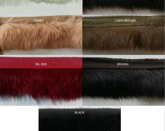 Rabbit Fur Trimming -Put-up- 5 Continuous Yards - Many Colors Available!
