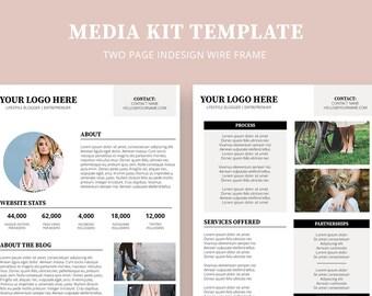 Media Kit Template |  Blog Template | Press Kit | Custom Media Kit | Small Business Press Kit