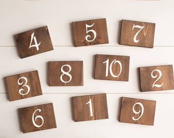 Table numbers Wedding table