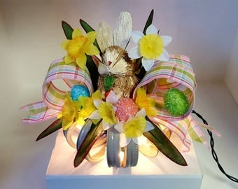 Easter bunny lighted orb