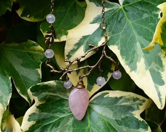 Fairy Necklace: nymph (genuine Rose Quartz)