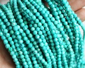4mm magnetite, faceted magnesite, turquoise magnesite, round beads, gemstone beads, 4mm faceted, small beads,