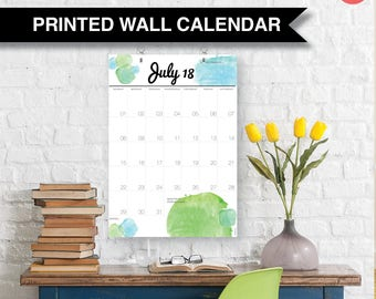 Wall Family Calendar 2018. Large A3 yearly wall planner 12