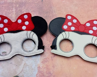 Mouse ebmoidered mask.