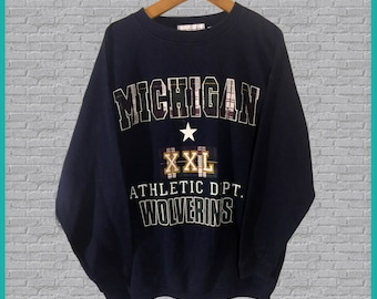 Vintage Michigan Wolverines Crewneck Sweatshirt Medium
