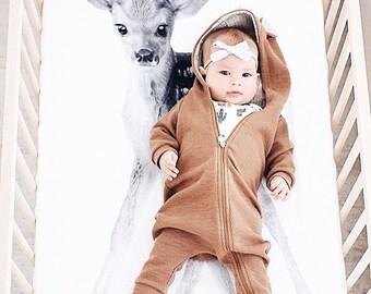 Crib Sheet, Crib Sheet Baby Boy, Crib Bedding, Baby Bedding, Organic Crib Sheet, Baby Shower, Black and White Crib Sheet, Deer