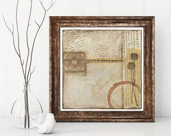 ALL FLAWED UP mixed media abstract collage, original art, wall art, vintage papers