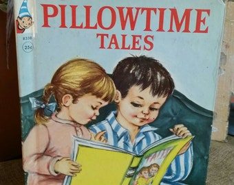 """Rand McNally Elf Book """"Pillowtime Tales"""" by Marion De Groot/Vintage 1960 Childrens Book/Bedtime Stories/Nursery/Baby Shower Decor/Nostalgic"""